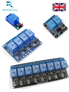 5V Relay Module Interface Boards for Arduino Low Level Trigger 1/2/4/8 Channels