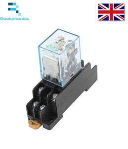 24V DC 8 Pin LY2N-J Relay DPDT with Socket Base Included High Quality