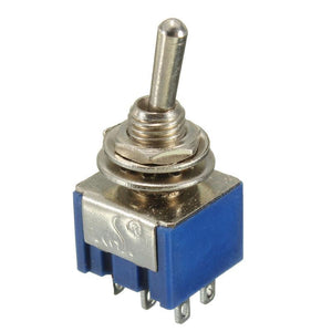 Miniature Toggle Switch DPDT ON-OFF-ON  6A 125V New High Quality