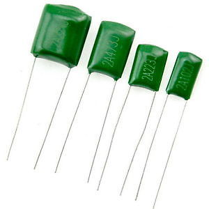 Polyester Film Capacitor 100V Rate - Values between 220PF - 0.22UF