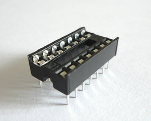 New 14 Pin DIP IC Socket Adapter Solder Type - High Quality
