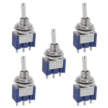 Miniature Toggle Switch 3 Pin ON/OFF/ON SPDT 6A 125VAC/3A 250VAC
