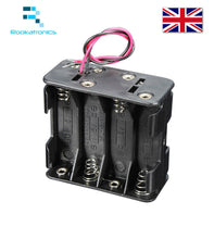 Quality Mini Plastic 12V Battery Clip Slot Holder Box Case 8 aa AA 1.5V Batteries