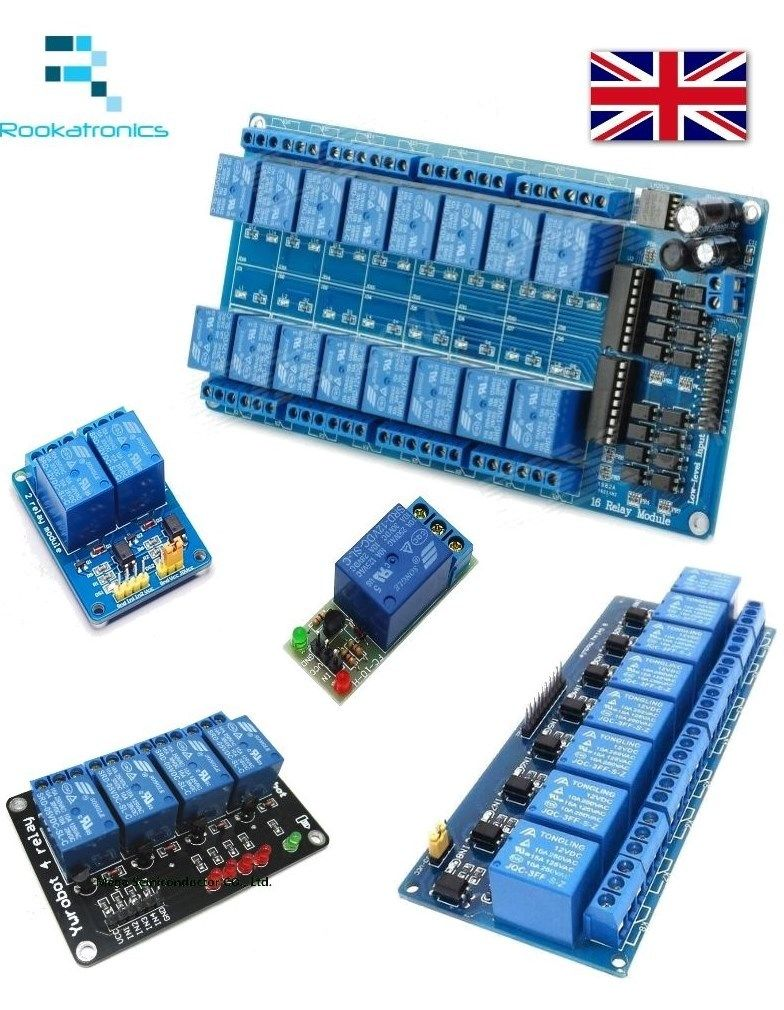 12V Relay Module Interface Board for Arduino LowLevel Trigger 1/2/4/8/16 on