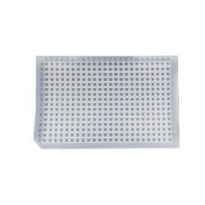 384-well sealing mat, square well, non-perforated,  silicone, alphanumeric grid