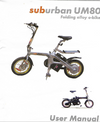 UM80 Sub Urban folding bike user manual