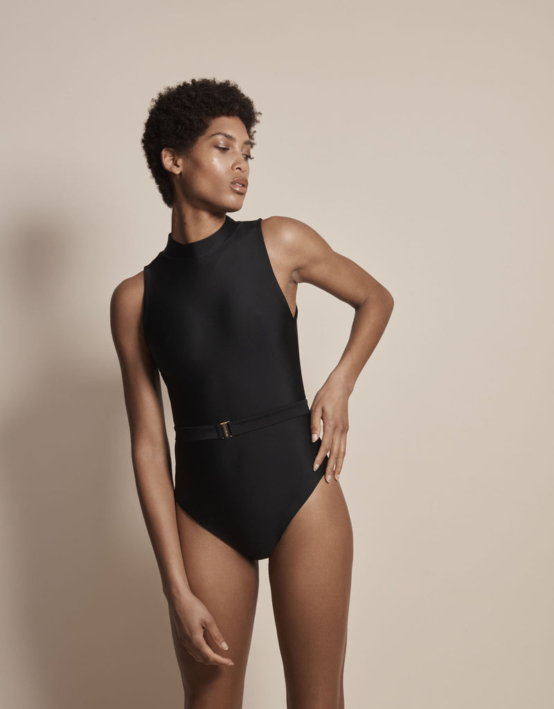 Luxury sun protective sustainable swimsuit in black?id=11721275539520