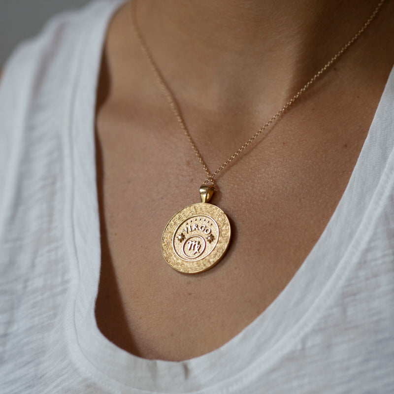 Virgo Zodiac Pendant Coin - Aug 23 - Sep 22