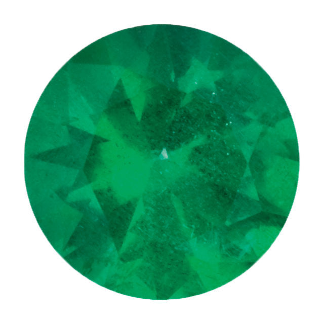 "Emerald and Diamond Origami ""V"" Necklace"