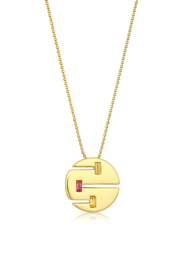 Sundown Coin Pendant Necklace