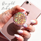 Rose gold glitter sticker for popsockets