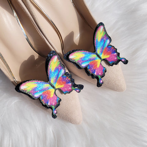 Rainbow butterfly shoe