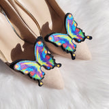 Glitter butterfly shoe clips