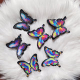 butterfly shoe clips, rainbow shoe clips