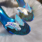 Opal butterfly shoe clips