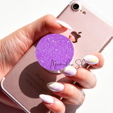 neon purple glitter sticker for popsocket