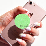 neon green glitter sticker for popsocket