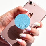 neon blue glitter sticker for popsocket