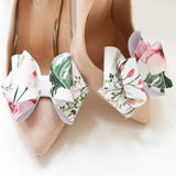 floral bow shoe clips, bridesmaid shoe, wedding accessories