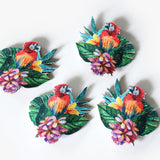tropical palm leaf, parrot, monstera shoe clips, monstera leaf, shoe accessories
