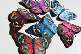Peacock Butterfly shoe clips, bridal shoe, bridesmaids shoe accessories