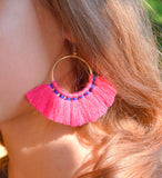 Tassel earrings boho jewelry