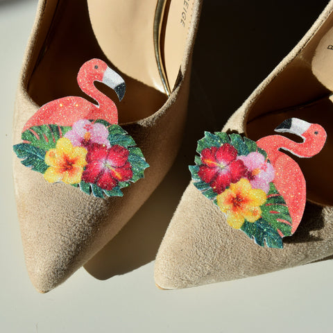 flamingo shoe clips