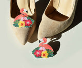 flamingo wedding shoe clips