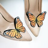 Monarch butterfly shoe clip