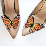 monarch butterfly shoe, wedding accessories