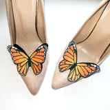orange butterfly shoe clip