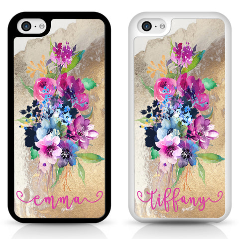 Succulent garden marble Flower Personalised Phone Cases for iPhone and Samsung cover, custom order, monogram, customice cell phone