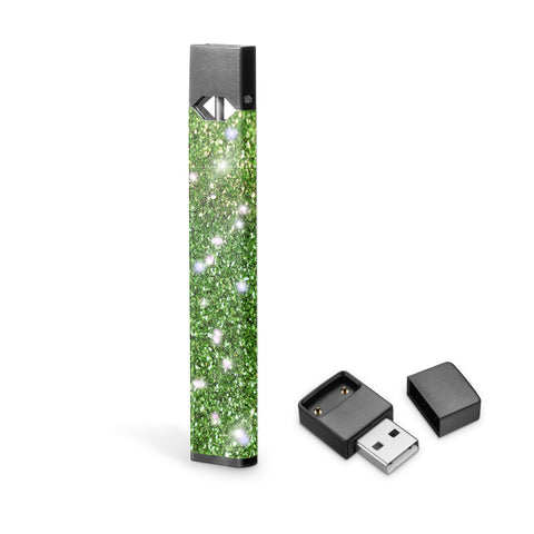 Apple green glitter skin foe Juul vipe, Juul wraps