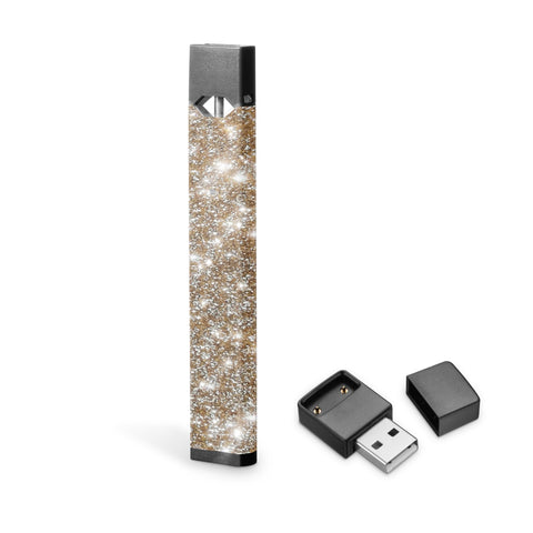 Champagne gold glitter skin for JUUL, Juul wraps, glitter decal
