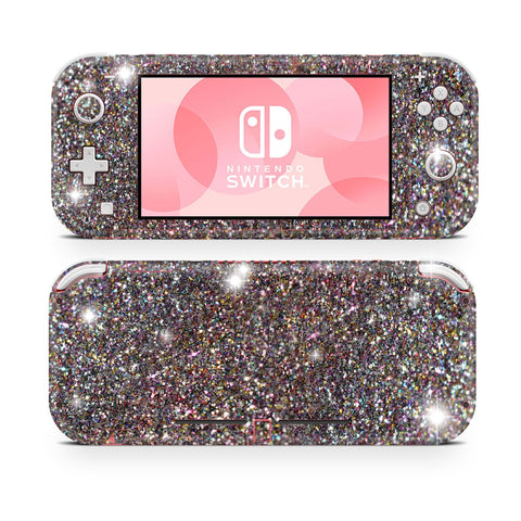 Rose gold glitter skin wrap sticker for Nintendo Switch Lite