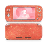 Coral pink Nintendo Switch Lite, animal crossing, Nintendo glitter skin