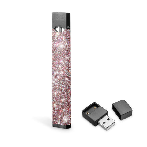 Rose gold confetti Glitter decal skin for Juul vape