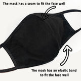 Washable Cotton, Protection Mask, Double Layer Protection
