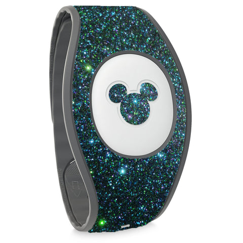rose gold decal stickers for magic bands Magicband skin wrap decals blue neon pink Sparkly navy glitter skins for magic band 2.0  teal