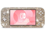 Champagne gold glitter, Sticker wrap for nintendo