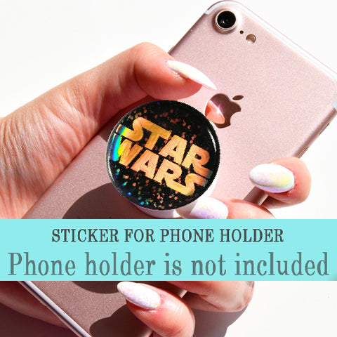 Star Wars Glitter iridescent sticker for PopSocket