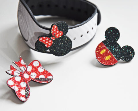 Minnie with bow jewelry charms for straps watch