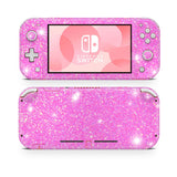 Pink Glitter sticker for Nintendo Switch Lite wraps decal