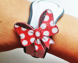 Minnie bow charms for straps watch