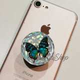 butterfly glitter sticker for popsockets