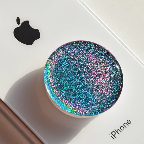 Blue Magic dust sticker for popsocket, phone holder, popsockets glitter decal