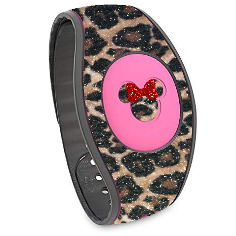 Magic Band Cheetah skins cover REAL Glitter Magic band 2.0 Tiger, Leopard decal skins stickers, Magic band decals wrap, wraps for magic band 2.0