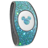 Blue Lagoon holographic glitter wraps for Magic Band, skins cover holo glitter straps, Magic band decals wrap, wraps for magic band