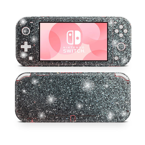 Graphite Gray glitter skin for Nintendo Switch Lite