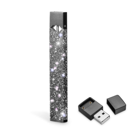 Graphite gray glitter skin for Juul, vipe wraps